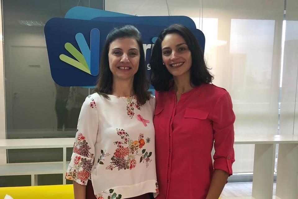 Dra Ângela Trinconi e Gabriela Magalhães